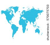 world map vector  illustration... | Shutterstock .eps vector #570075703