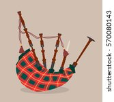 Scottish Bagpipe. Vector...