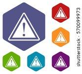 hazard warning attention sign... | Shutterstock .eps vector #570099973