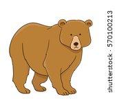 cartoon bear on white. vector... | Shutterstock .eps vector #570100213
