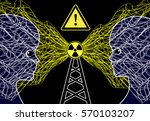 transmission masts and health...   Shutterstock . vector #570103207