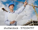 architect  engineer  project... | Shutterstock . vector #570104797