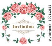 bridal shower  wedding... | Shutterstock .eps vector #570113893
