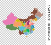 china map with province region. ... | Shutterstock .eps vector #570113977