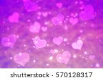 Pink Heart Shape Light Bokeh...