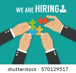 human resources  recruiting  we ... | Shutterstock .eps vector #570129517