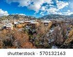 Winter Scenery In Village Of...
