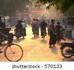 Mandalay Rush Hour Sunset....