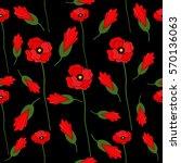 vector seamless pattern red... | Shutterstock .eps vector #570136063