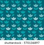 elegant blue color holland... | Shutterstock .eps vector #570136897
