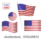 the usa vector flag. set of... | Shutterstock .eps vector #570139873