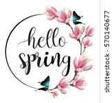 hello spring calligraphic...