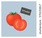 vector vegetable   tomato | Shutterstock .eps vector #570153817