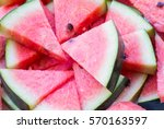 Background Of Watermelon Slices.