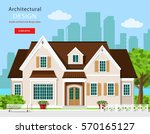 cute modern graphic cottage... | Shutterstock .eps vector #570165127