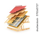 house roofing technical details.... | Shutterstock . vector #570165727
