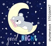 good night vector card with... | Shutterstock .eps vector #570166447