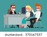 cartoon character. businessman... | Shutterstock .eps vector #570167557