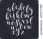 handmade letters. handwritten... | Shutterstock .eps vector #570177487