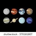 planets on black background   Shutterstock .eps vector #570181807