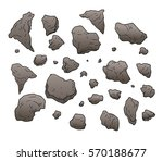 rocks and stones set collection | Shutterstock .eps vector #570188677