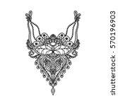 vector floral neckline design... | Shutterstock .eps vector #570196903