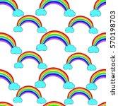 pattern of rainbow.rainbow and... | Shutterstock .eps vector #570198703