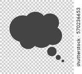 thought bubble on the isolated... | Shutterstock .eps vector #570236653