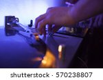 dj editing music levels on the... | Shutterstock . vector #570238807