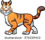 happy cartoon tiger. vector... | Shutterstock .eps vector #570239413