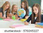 children at school in lessons | Shutterstock . vector #570245227