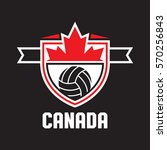 a canadian athletic crest in... | Shutterstock .eps vector #570256843