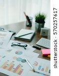 business document in office... | Shutterstock . vector #570257617