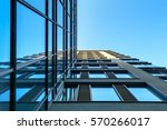 modern architecture with glass... | Shutterstock . vector #570266017
