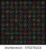 set of 100 isolated minimal... | Shutterstock .eps vector #570270223