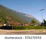 switzerland peaceful town... | Shutterstock . vector #570270553