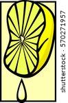 squeezed lemon | Shutterstock .eps vector #570271957