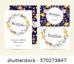 wedding invitation card suite... | Shutterstock .eps vector #570273847