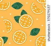 orange love pattern | Shutterstock .eps vector #570279157