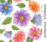 seamless pattern of watercolor... | Shutterstock . vector #570286603