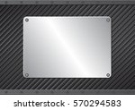 black background with metallic... | Shutterstock .eps vector #570294583