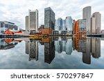 boston harbor view  | Shutterstock . vector #570297847