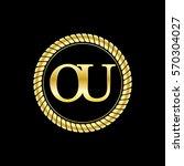 initials o and u logo luxurious ... | Shutterstock .eps vector #570304027