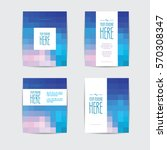 set of brochures in rectangle... | Shutterstock .eps vector #570308347