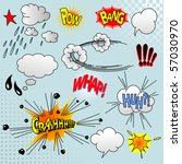 illustration of comic elements... | Shutterstock .eps vector #57030970