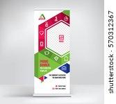 promo banner roll up design ... | Shutterstock .eps vector #570312367