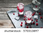 shot with natural cranberry and ...   Shutterstock . vector #570313897