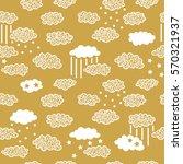 ornate sky pattern. vector... | Shutterstock .eps vector #570321937