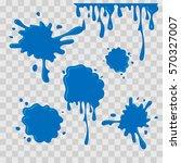 paint drop abstract... | Shutterstock .eps vector #570327007