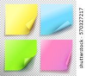 set of yellow green blue pink... | Shutterstock .eps vector #570327217